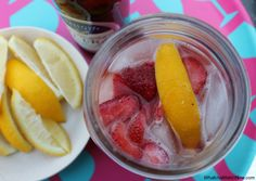Strawberry Lemonade Beer - so refreshing and fruity, you won't even taste the beer!