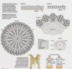 DIAGRAMA Y PATRON DE CHALECO REDONDO PATRON INCLUIDO | Patrones Crochet, Manualidades y Reciclado