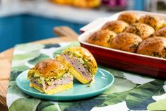 network slider recipe cuban mauro bake jeff food Cuban Slider Bake Recipe Jeff Mauro Food NetworkYou can find Food network and more on our website Cuban Sliders, Cuban Sandwich, Pork Sliders, Kitchen Recipes, Baking Recipes, Jeff Mauro, The Kitchen Food Network, Shredded Pork, Wrap Sandwiches