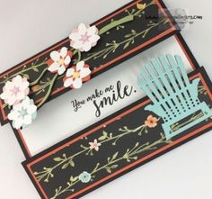 Stampin' Up! Colorful Seasonal Layers Centerfold Card (Stamps – n - Lingers) Fun Fold Cards, Cool Cards, Folded Cards, Diy Cards, Window Cards, Cards For Friends, Friend Cards, Stamping Up Cards, Rubber Stamping