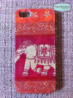 Indian Elephant : iPhone 5 Case, iPhone 5 Hard Case, iPhon 5 Cover Case, Phone Case on Etsy, $15.50