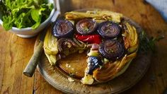 Red onion, fennel and chilli tarte tatin