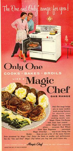 MCM Magic Chef Ad, 1955.