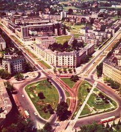 Plac Wilsona(ówczesny Plac komuny Paryskiej) na zdjęciu Z.Siemaszki z 1968 roku. Widzicie swoje domy? Mój ucięto :D