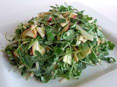 Arugula Watercress Fennel Apple Almond Salad with Apple Cider Vinaigrette by jfhaugen