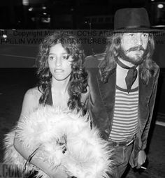 Lori Maddox with Led Zeppelin's drummer John Bonham