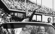 Marilyn Monroe at Ebbets Field Stadium, Brooklyn, NY, May 12th 1957.