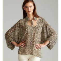 Animal Print Woven Blouse