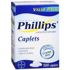 Phillips Laxative Dietary Supplement Caplets - 100 ea