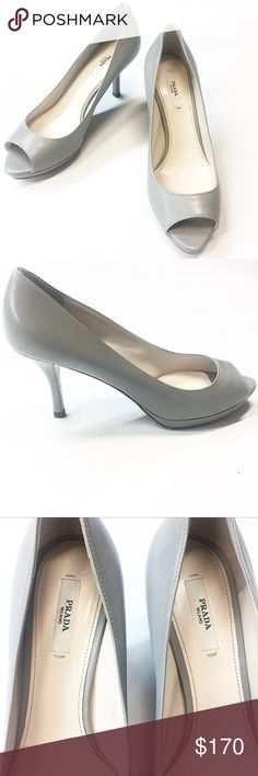 Prada Peeptoe Pump Size 37.5 Prada leather peep toe pump. Size 37.5 (fits like US 7). Flawless, brand new condition. Estimated retail $690.  *Open to offers using the offer button! Prada Shoes Heels