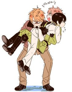 Hetalia-America,Japan,England. I love how Japan isn't freaking out or anything. I get the feeling things like this are a regular occurrence with them.