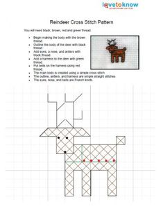christmas cross stitch borders | Click to download the reindeer pattern.