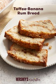 If you're looking for the perfect fall breakfast, look no further: try this Toffee-Banana Rum Bread. Made with HEATH BITS O' BRICKLE Toffee Bits, bananas, and rum, this delicious breakfast recipe is an easy way to warm up a cool morning.