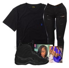 """""""⚫️⚫️"""" by waavymariee ❤ liked on Polyvore featuring Ralph Lauren and NIKE"""