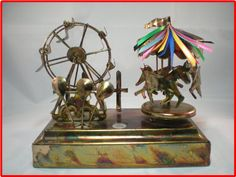 Vintage Copper Carnival Music Box Carousel by jewelsofthecity, $41.99