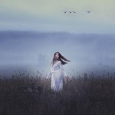 """Fog"" —  Photographer: Charlotte Berndsen Model: Béatrice Gervais"