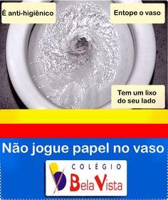 Recado banheiro Colegio BV