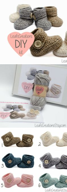 Super cute booties with a DIY kit. Love these so much. #afflink