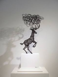 "Saatchi Art Artist Yong-won SONG; Sculpture, ""Augmented reality+I think the  animal"" #art"
