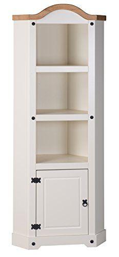 From 119.99 Mercers Furniture Corona Painted Corner Display Unit - Cream / Pine