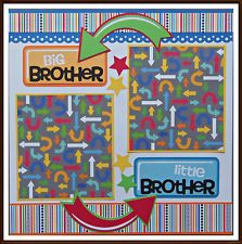 Brothers Premade Scrapbook Pages Paper Piecing 12x12 Layout SC4S