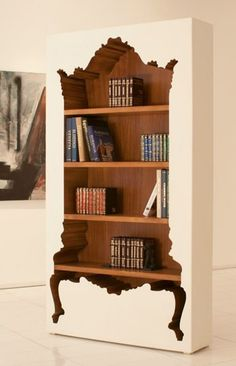 Lacquered custom #bookcase BOOKIE BOURBON by POLaRT