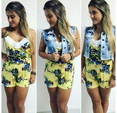 Macaquinho - Amarelo - Flores - Playsuit - Yellow - Flower - Estampado