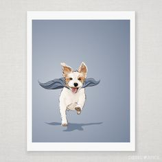 Ginny the Super Jack Russell Terrier - Illustrated Art Print