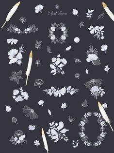 Vector Flower April Vector Flowers by Webvilla Design on Creative Market Watercolor Illustration, Floral Watercolor, Business Newsletter Templates, Craft Logo, Vector Flowers, Elegant Flowers, Free Graphics, Free Illustrations, Craft Items