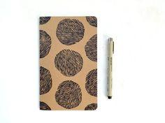 moleskine notebook, hand printed moleskine journal, art journal, writing journal, moleskin journal, planner, block print blank notebook