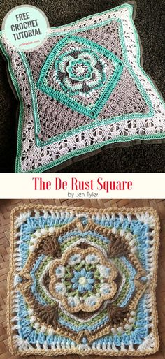 The De Rust Crochet Square - #crochet #freepattern #flowers