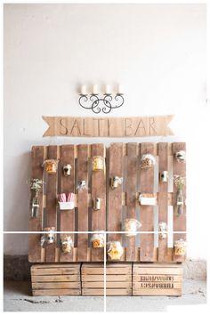 Salty bar for wedding