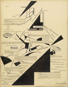 visual-poetry: »mental reactions« by marius de zayas and agnes ernst meyer (1915). by general accounts the earliest example of visual poetry in america—is the original maquette for a printed version published in the avant-garde magazine 291. both a drawing and a poem, the work is a collaboration between the mexican-born caricaturist marius de zayas (1880–1961) and the american journalist and art patron agnes ernst meyer (1887–1970).