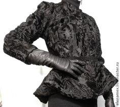 Жакет из лапок каракульчи - шанель,каракуль,каракульча,чёрный,жакет из каракульчи