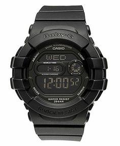 Macys.com $89 Baby-G Watch, Women's Digital Black Resin Strap 42x46mm BGD140-1A