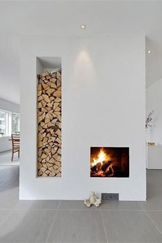 Modern Home Decor 20 Examples Of Minimal Interior Design - UltraLinx.Modern Home Decor 20 Examples Of Minimal Interior Design - UltraLinx Scandinavian Fireplace, Minimalism Interior, House Design, House, Home Fireplace, Modern House, Home Remodeling, Fireplace Design, Modern Fireplace