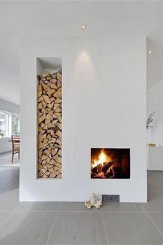 haard modern interieur