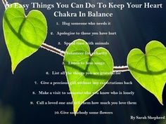 Heart Chakra - 10 Easy Things to keep your Heart Chakra in Balance. सु