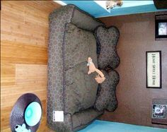 Double Dog Bed - I think Lily and MoMo would like having this...and their own room some day....that would be so nice :)