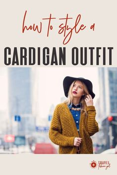 When it comes to fall fashion essentials, few items top the list quite like a classic cardigan. You could wear it on the plane as a cozy option or rock with a dress, boots, and tights. #TravelFashionGirl #TravelFashion #TravelClothing #cardiganoutfit #fallfashion #stylecardigan