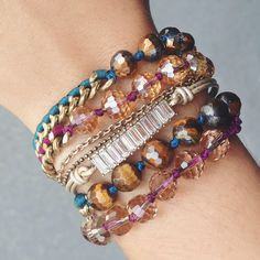 Shop bestselling Bead + Chain Multi-Wraps + crystal-accented bracelets on my c+i boutique today!