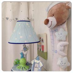 Bebek odası aksesuarları abajur ve boy ölçer