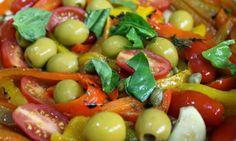 My way through cooking: Antipasto, Panzanella salad and rosemary focaccia....