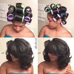 """"""" TRANSFORMATION TUESDAY  Love how @fluffcoif  transforms her #curls with these jumbo #rollers➰➰➰ Big hair don't care#VoiceOfHair"""""""