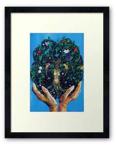 Gaia-Tree of Life by SassoJo. Framed prints avail at www.redbubble.com/people/SassoJo