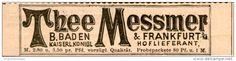 Original-Werbung/Inserat/ Anzeige 1894 - MESSMER THEE (Meßmer Tee) - ca. 90 X 30 mm
