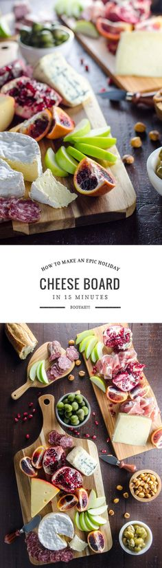 Cheese Platter How to Make an Epic Cheese Board -- A big, beautiful cheese platter is an easy way to amp up your party game. Here's how to create an epic cheese board in just a few minutes. Cheese Platters, Deli Platters, Party Platters, Easy Appetizer Recipes, Party Appetizers, Party Snacks, Sandwiches, C'est Bon, Holiday Recipes