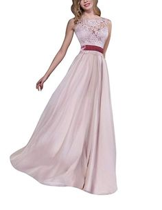 Newdeve Sleeveless Heart-shaped Cleavage A-line Silhouette Powder Pink Long Evening Dresses Women's Evening Dresses, Prom Dresses, Formal Dresses, Powder Pink, Silhouette, Heart, Fashion, Dresses For Formal, Moda
