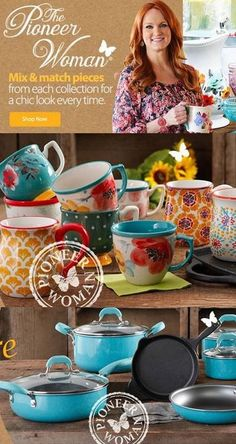 Did you hear the GREAT news? The #PioneerWoman Collection of Kitchen, Cooking and Dinnerware (Cookbooks too)icon Products are now available for purchase!
