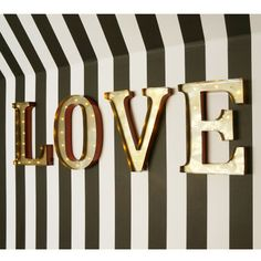 NEW! Love Letters Lights  |  Wall Sconces / Wall Lights  |  Lighting  |  French Bedroom Company